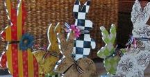 Spring Bunnies / Hand made painted rabbits by Lucy Designs for Easter and Spring
