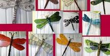 Dragonfly and butterfly art using table legs and spindles / Dragonfly art from table legs or spindles by Lucy Designs ***I am no longer creating or selling the dragonflies