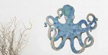 Octopus Art / Mosaic octopus designs by Lucy Designs and other octo art