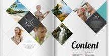 magazine layouts / Types of booklet, covers, mgazine layouts etc.