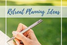 Retreat Planning Ideas / Retreat ideas and activities, suggestions for retreat themes, including ideas on women's personal and wellness retreats. All curated by a retreat leader with 11 years of experience.