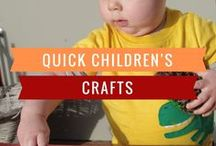 Quick Children's Crafts / Quick, Fun, Easy, Craft Ideas for Kids. Science experiments and art projects that are great for fine motor skills, and easy to fit into your schedule.