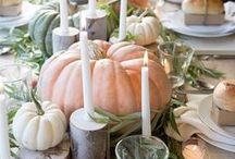 Thanksgiving Party Ideas / Thanksgiving table setting inspiration, crafts, and recipe ideas including turkey, cranberry, and all your traditional favorites.