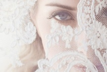 Nude,lace and ribbon wedding inspiration