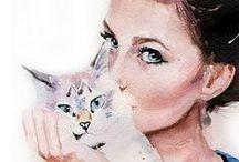 CAT ART / by Lisa Kay