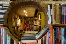 Book shelves, shops, and libraries.  / Books have to live somewhere. / by Becky Cole