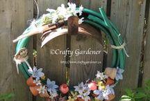 Garden Whimsy / whimsy I've created for my garden from household items