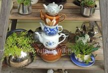 Craf-tea Creations / creative things made with old teapots, old teacups, old pots and old dishes