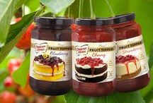 Fruit Toppers / With Duncan Hines, it's fruit season year round! Check out our newest product, Duncan Hines Fruit Toppers in cherry, blueberry, and strawberry at a grocery store near you.