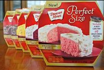 Perfect Size Cakes / Introducing our new Duncan Hines® Perfect™ Size cake mix!  Complete with cake mix, frosting mix, and a disposable pan, this  is the perfect cake for 2 - 4 people who are looking to celebrate a birthday, family game night, or the end of a long day.
