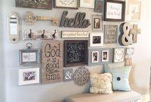 Muur deco / Ideetjes voor meer sfeer, kale muren en kunst in huis