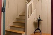 Entries, halls and stairs / by Linda Rudman Behind My Red Door