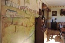My mural - painted by Susan Dwyer / by Linda Rudman Behind My Red Door