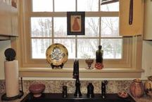 My seasonal kitchen window / by Linda Rudman Behind My Red Door