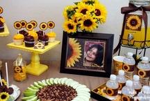 Sunflowers & Burlap Ideas / Burlap crafts, Sunflower parties & weddings, and more!