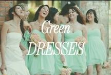 Green Bridesmaid Dresses / Inspiration for green bridesmaid dresses.