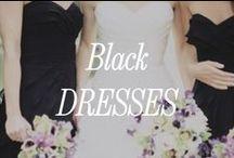 Black Bridesmaid Dresses / Inspiration for black bridesmaid dresses.