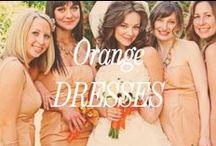Orange Bridesmaid Dresses / Inspiration for orange bridesmaid dresses.
