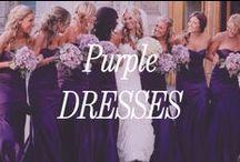 Purple Bridesmaid Dresses / Inspiration for purple bridesmaid dresses.