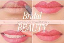 Bridal Beauty / Lovely romantic wedding makeup, great ideas for a bold wedding lip or a neutral eye.
