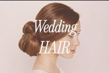 Wedding Hair / Glamorous wedding hair ideas. Romantic long curls and sleek up-dos