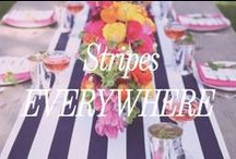 Stripes Everywhere / We love incorporating stripe accents in your wedding decor