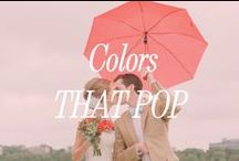 Colors That Pop / Color pallets can be the most fun, and most challenging, part of your wedding planning. To make your decor unique, browse through some of these ideas for little splashes of color that will surprise your guests and look stunning in your photography.