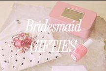 Bridesmaids Gifts / Thanking the women by your side is such an important part of the bridesmaid experience. The bridesmaid gift can be impossibly hard to figure out. Hopefully the ideas below will give you some unique, beautiful and affordable ideas for the gift. Good luck!