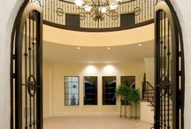 Making a Grand Entrance / Custom doors that create curb appeal on homes designed and built by Florida Custom Builder Jorge Ulibarri, owner of Cornerstone Custom Construction, www.imyourbuilder.com