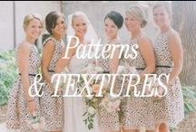 Patterned & textured Bridesmaid Dresses / Inspiration for patterned and textured bridesmaid dresses.