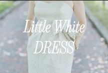 Little White Dress / The little white dress is such a fun part of the wedding weekend ... or bridal shower. Here are a few of our favorites.