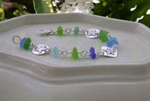 Handmade Sea Glass Jewelry: Bracelets / Bracelets with authentic sea glass handmade by Lisl Armstrong www.naturalseaglass.com