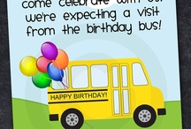 School Bus & ABCs party / Also #bus #driver and #teacher #retirement