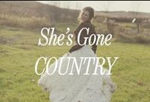 She's Gone Country / We just love country weddings. Here are our favorite country weddings with perfect drama-free Bridesmaid Dresses from Brideside.com