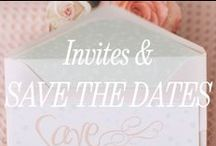 On the List: Invites and Save the Dates / Amazing wedding invites and save the dates ideas.