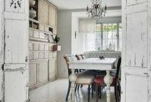 Style ~ Shabby Chic / Shabby chic is look like vintage or old furniture. The peeling paint, milk paint finishes, worm holes, rust, or anything green the nicks and scratches don't matter. They are character. The furniture is usually painted white and distressed (made to look worn and used.