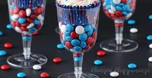 Happy 4th of July / Recipes, decorations, and ideas to celebrate the Fourth of July. Red, white, and blue activities and recipes also make great choices for Captain America parties, or anything else patriotic! :)