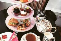 ❤ TEA. Afternoon TEA / A British tradition which is glorious in all senses. So what is afternoon tea? We eat afternoon tea between lunch and dinner and it consists of steaming hot tea, mini sandwiches, scones with cream and jam and delicious cakes. What could be better than sitting with your friends and relaxing with some sweet treats?