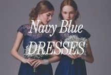 Navy Blue Bridesmaid Dresses / Sometimes we like to think that Navy Blue is the new black, but at least it's the perfect wedding alternative!
