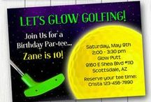 Glow Party / Ideas for Glow Golf, Neon Parties, etc