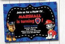 Puppy or Paw Patrol party / Puppy / Dog party crafts, decor and food ideas.  Also Paw Patrol party ideas.
