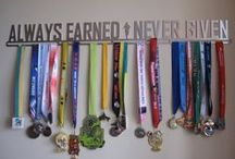 Race Craft / Ideas for displaying awards, trophies, race bibs, etc.