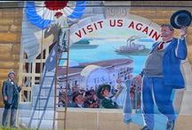 Colorful Murals / Cape Girardeau is adorned with bright murals throughout the city that depict the history of Cape Girardeau and the surrounding area.  VisitCape.com/Discover/Arts has details! / by VisitCape