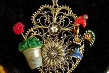 Portuguese Folk rooster jewelry / Handmade jewelry with Portuguese Galo de Barcelos rooster. / by Vintage GlamArt