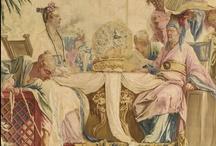 Antique textiles, tapestries