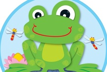 Funky Frogs Classroom Décor / Liven up any classroom with this energetic and playful suite of classroom décor! The FUNky Frogs design will add color and personality to any class creation, bulletin board, window, or anywhere an extra fun touch is needed!  / by Carson-Dellosa Publishing