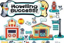 Hot Diggity Dogs Classroom Decor / Dog lovers! Welcome adorable furry friends into the classroom with Hot Diggity Dogs! Also perfect for home, playrooms, puppy-themed parties, veterinarians offices, and more!  Goes perfectly with our Black, White & Bold Classroom Coordinates.  / by Carson-Dellosa Publishing