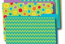 Chevron Classroom Inspiration / You asked for it! We've got your Chevron right here! Your favorite pattern - all in bright playful, happy colors, too! Perfect for school, home, office, dorm - anywhere you need a bit of color to brighten your day!