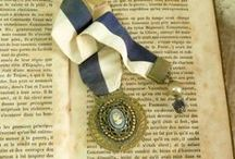 Bookmarks,Medals,Keys / Vintage and salvaged pieces reinvented artistically as bookmarks or book stack decor. / by Vintage GlamArt