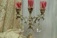 Candle holders / Vintage, salvaged candle holders artistically reinvented for French country, Shabby Chic and Beach cottage decor. / by Vintage GlamArt